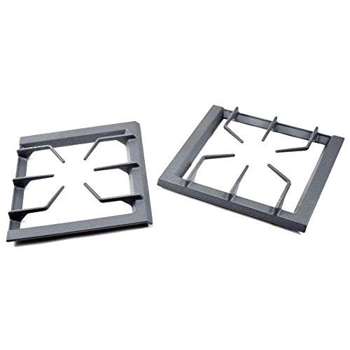 (Whirlpool 12001428 Range Surface Burner Grate Set, 2-Piece Genuine Original Equipment Manufacturer (OEM) Part)