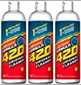 Original Cleaner by Formula 420 | Glass Cleaner | Cleaner Pack | Safe on Glass, Metal, Ceramic, and Pyrex | Cleaner - Assorted Sizes (12 oz)