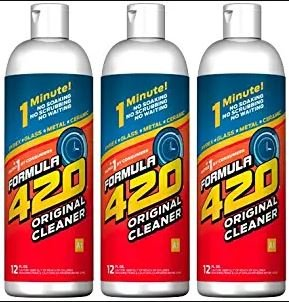 Original Cleaner by Formula 420 | Glass Cleaner | Cleaner Pack | Safe on Glass, Metal, Ceramic, and Pyrex | Cleaner…