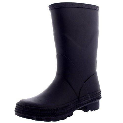 Polar Unisex Kids Stable Waterproof Winter Muck Wellington Snow Yard Rain Boot - Dark Purple - US12/EU30 - BL0264 - Kid Stomp Rain Boot