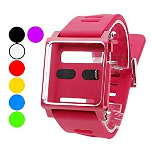 hao Fashionable Design Watch Wrist Strap for iPod Nano 6 (Assorted Colors) , Black