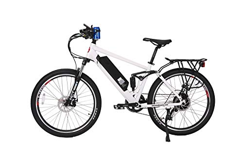 (X-Treme E-Bikes Rubicon 48 Volt Electric Bike | Metallic White)