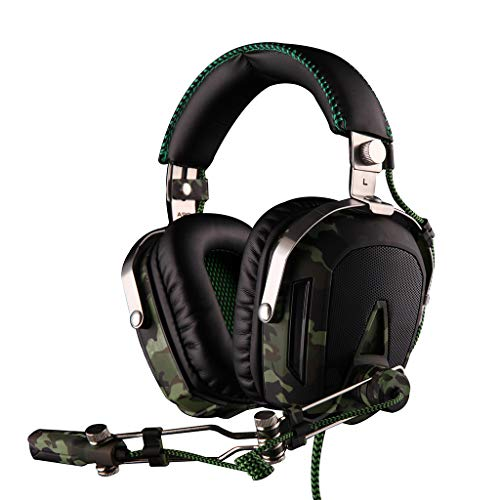 Ildlor Gaming Headset Noise Cancelling 7.1 Channel Over Ear Gaming Headphones with Mic Volume Control for Laptop,PC