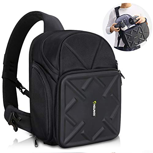 Endurax Sling Camera Bag Backpack for DSLR Camera with Customizable Dividers for Long Lens and Waterproof for Canon Nikon Sony Pentax (Dslr Camera Bag Sling)