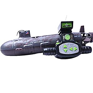 - 41VLUr13THL - 13000-12 Diving Toy 6-Channel Remote Control Navy Submarin Boat by Friends Equipments