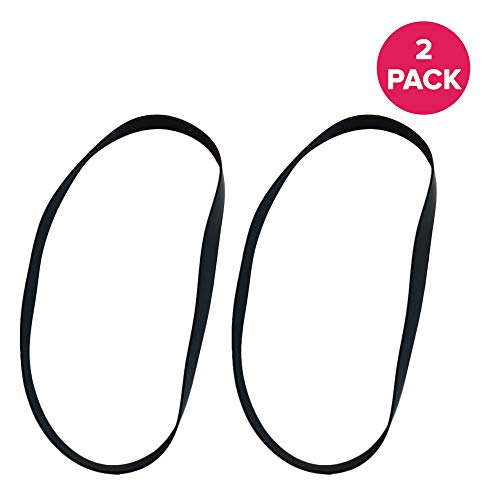 Sanitaire Red Commercial Carpet Cleaner - Crucial Vacuum Replacement Belt Parts - Compatible with Hoover Skinny Drive Part # 562289001, AH20065 - Fits Hoover T-Series Non-Stretch Belt Fits Rewind Upright - For Home, Office (2 Pack)