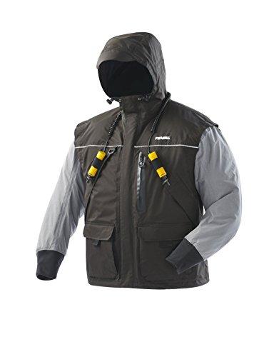 Frabill I2 Jacket, Black/Heather Grey, XX-Large