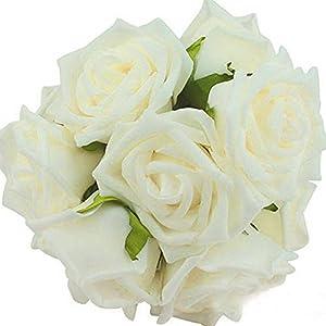 Nyalex 2 Roses Styles 18 Colors 8CM 6.5CM 10Pcs Artificial Rose Flowers Wedding Bride Bouquet Home Hotel Decor Posy 2