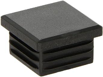 Kapsto 260 Q 3434 1.5 - 2 Polyethylene Square Plug, Black, 34 mm (Pack of 100)