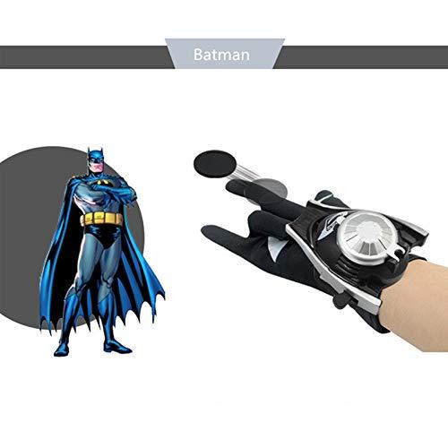 Grocoto Boys Costume Accessories - Spiderman Launcher Gloves Cosplay Costume Props Superhero Batman Iron Man Gloves Halloween Child Birthday Gift 1 PCs ()