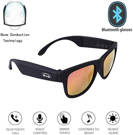 ワイヤレスBluetoothサングラス、オープンイヤーミュージック&ハンズフリー通話、男性と女性用、偏光UV400保護安全レンズ(2019)