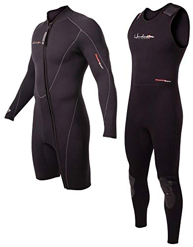 (Henderson 5mm Thermoprene Mens 2-Piece Wetsuit Combo-Long John & Jacket)