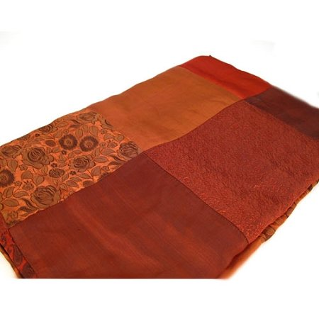 Red patchwork throw table cloth by Red