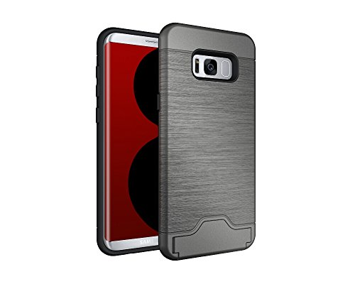 Price comparison product image Samsung Galaxy S8 PLUS Case Suntechor Anti-Scratch Armor Shockproof Heavy Duty Hybrid Protective Kickstand Cover(Gray)