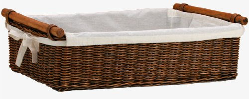 The Basket Lady Fabric Liner for Low Pole Handle Wicker Storage Basket (LINER ONLY)