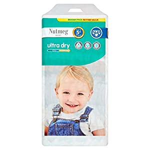 Nutmeg Ultra Dry Nappies Size 5+, Pack of 64