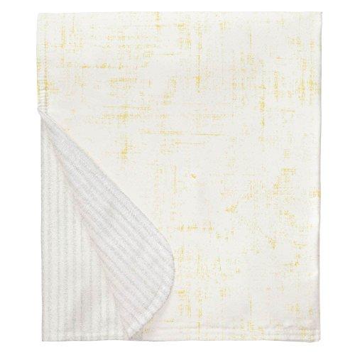 (Carousel Designs Banana Yellow Distressed Mini Crib Blanket )