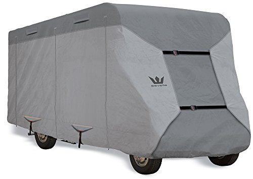 S2 Expedition Class C RV Covers by Eevelle | Marine Grade Waterproof Fabric Roof | Tan and Gray