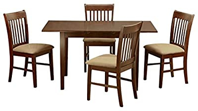 East West Furniture NOFK5 5-Piece Kitchen Nook Dining Table Set