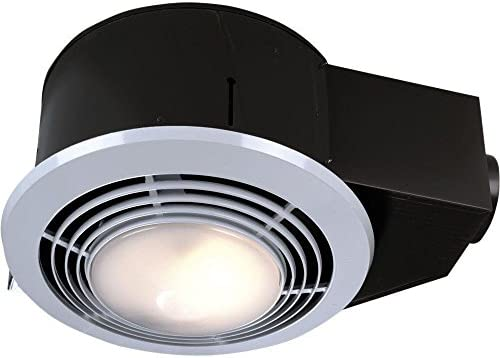 NuTone QT9093WH Combination Fan Heater Light Night Light, 110 CFM 4.0 Sones with 4-Inch Duct Connector Renewed