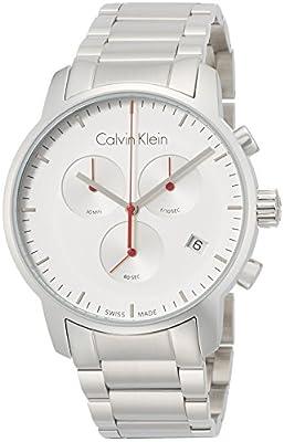 Calvin Klein K2G271Z6 Mens City Silver Steel Chronograph Watch
