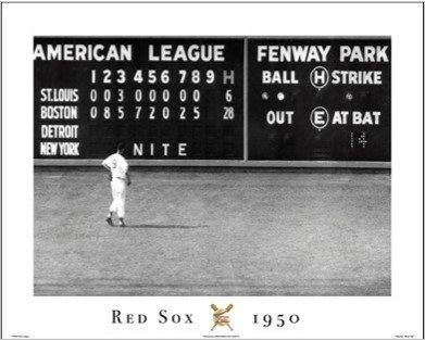 Red Sox - Blow Out Art Print Poster Green Monster Scoreboard Fenway Park