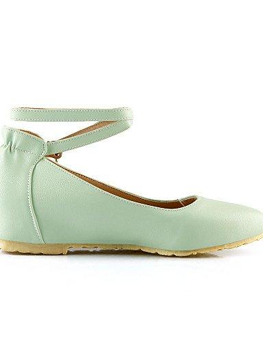 de carrera verde green PDX zapatos talón Flats piel casual vestido Mary Pointed y de uk3 negro sintética us5 mujer Toe plano eu35 cn34 oficina rosa 66pxERU