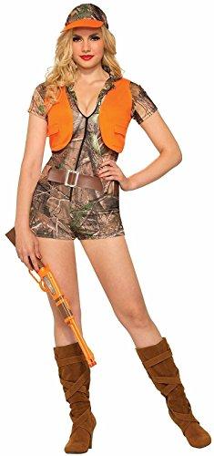 Forum Novelties Women's Foxy Hunter Costume, Brown/Orange, -