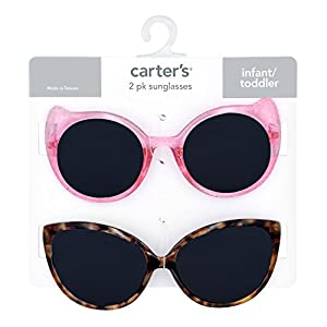 Carter's Baby Girl's 100% Uva-uvb Protected Baby Sunglasses (girl) Accessory, pink/pink glitter/tortoise, 0-36 Months