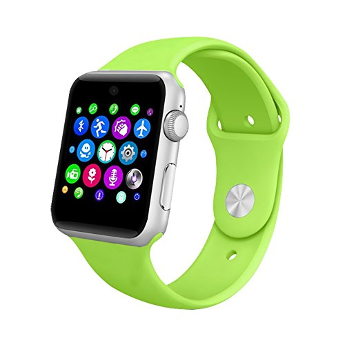 Lemfo LF07 Bluetooth SmartWatch 2.5D ARC HD Screen Support SIM Card Wearable Devices Smartphone Fitness Tracker For IOS Android (Green)
