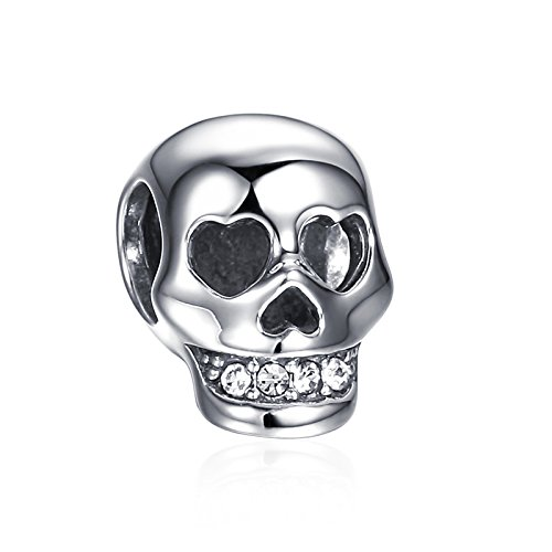 Soufeel Terrible Skull Charm 925 Sterling Silver Halloween Jewelry Making Charm