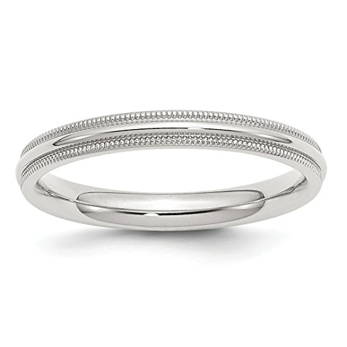 ing Silver 3mm Comfort Fit Milgrain Size 5.5 Wedding Ring Band Classic Half Round Fine Jewelry Ideal Gifts For Women Gift Set From Heart ()