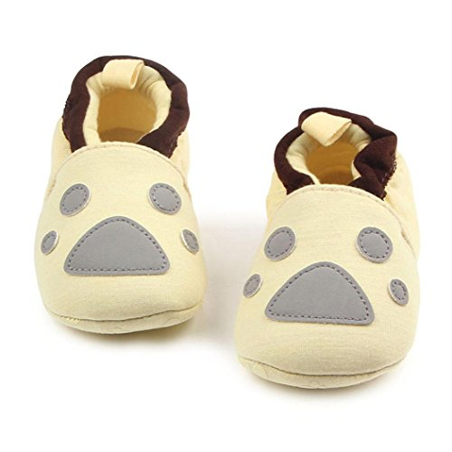 ... Hunpta Lovely Kleinkind erste Wanderer Baby Schuhe runde Zehe flache  weiche Pantoffel Schuhe D ...