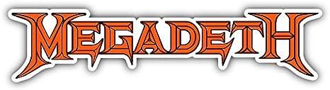 Self-Adhesive Sticker Car Window Bumper Vinyl Decal Hochwertiger Aufkleber Megadeth Music Slogan Logo