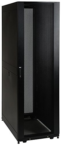 Tripp Lite 42U Knock-Down Standard-Depth Rack Enclosure Cabinet Kit, 3000-lb. capacity, Black (SR42UBKD)