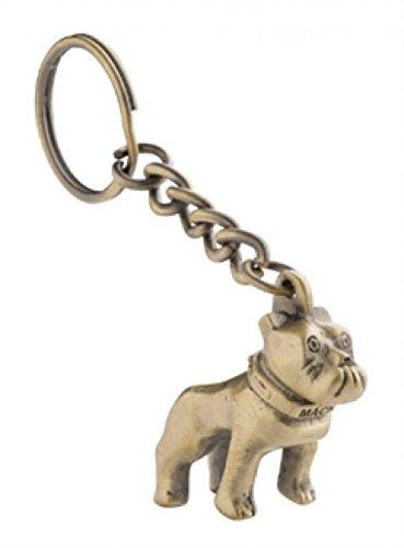 Gold Hood Ornament - Mack dog Bulldog gold keychain Christmas tree hood ornament emblem diesel