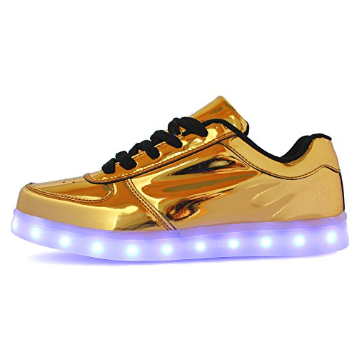 LED Lumineuse Homme Or DoGeek Lumière Chaussure Adult Femme Mode Baskets pour Rechargeable USB 7 Chaussures Couleurs Unisex Baskets wE40q4Rp