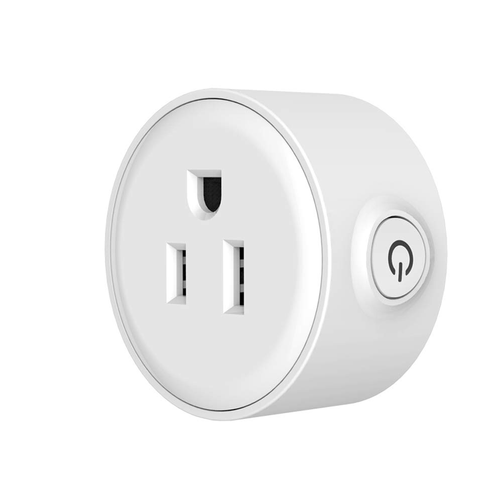 NTONPOWER WiFi Smart Plug in Wall Remote Control Wireless Socket Timer with ON/OFF Switch for Light Electrical Appliance(For iOS 8.0+/ Android 4.4+), Compatible with Alexa- White
