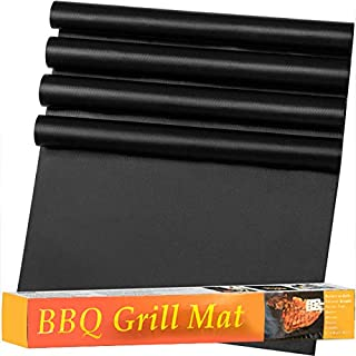 Heavy Duty Oven Liner (4 Oven Mats per Box) Thick Oven Mat, Heat Resistant Mat Oven Ready Fiberglass, Easy Clean Up, by Rock the Fork