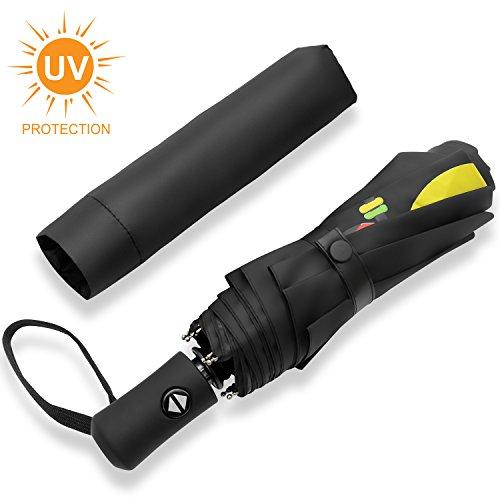 IEOKE Travel umbrella, Sun umbrella Sunblock UV Protection automatic...