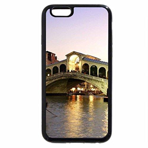 iPhone 6S / iPhone 6 Case (Black) Rialto Bridge Venice Italy
