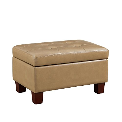 Cheap Dorel Living Dakota Tufted Storage Ottoman, Taupe