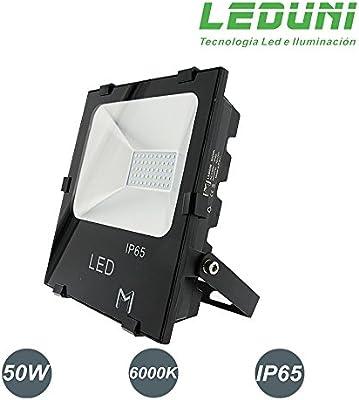 LEDUNI Foco Proyector Floodlight LED Exterior 50W Chips OSRAM IP65 ...
