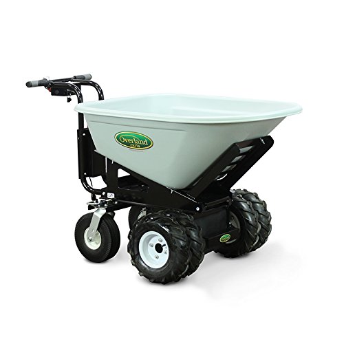Overland Electric Powered Cart with 8 Cubic Foot Hopper on Heavy Duty 27-Inch Chassis, 750-Pound Capacity ()