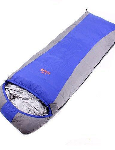 Schlafsack ( Rot/Königsblau ) - Atmungsaktivität/Winddicht/warm halten/Videokompression/rechteckig/Kaltes Wetter - Entendaunen/Polyester