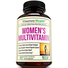 Women's Daily Multivitamin/Multimineral Supplement - Rich In Vitamins & Minerals. Green Tea, Magnesium, Biotin, Zinc, Calcium. Antioxidant For Women. Heart & Breast Health. Gluten Free Multivitamins