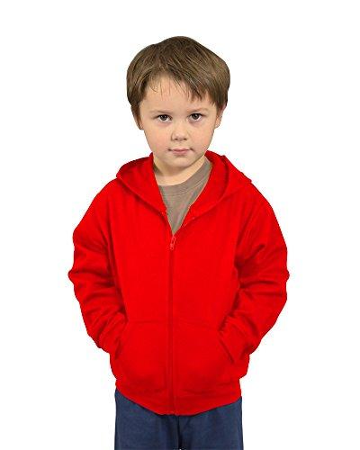 Monag Infant Fleece Jacket With Hoodi 18m Red