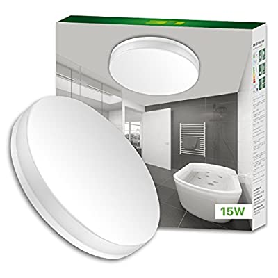 LE 15W Waterproof Ceiling Light 1250lm, 100W Incandescent Replacement, 8.7 Inch Flush Mount (Daylight White)