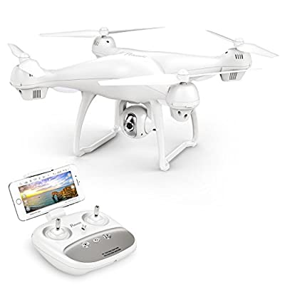 Potensic Dual GPS FPV RC Drone, 1080P Camera Live Video and GPS Return Home Quadcopter with WiFi Camera - Follow Me, Altitude Hold, 2500mAh Battery Long Control Range by Potensic