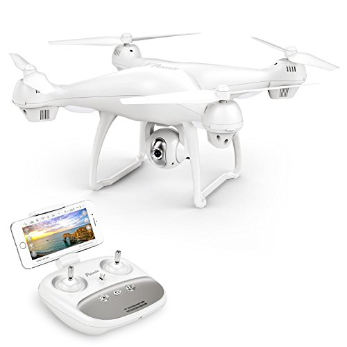 Potensic Dual GPS FPV RC Drone, 1080P Camera Live Video and GPS Return Home Quadcopter with WiFi Camera – Follow Me, Altitude Hold, 2500mAh Battery Long Control Range